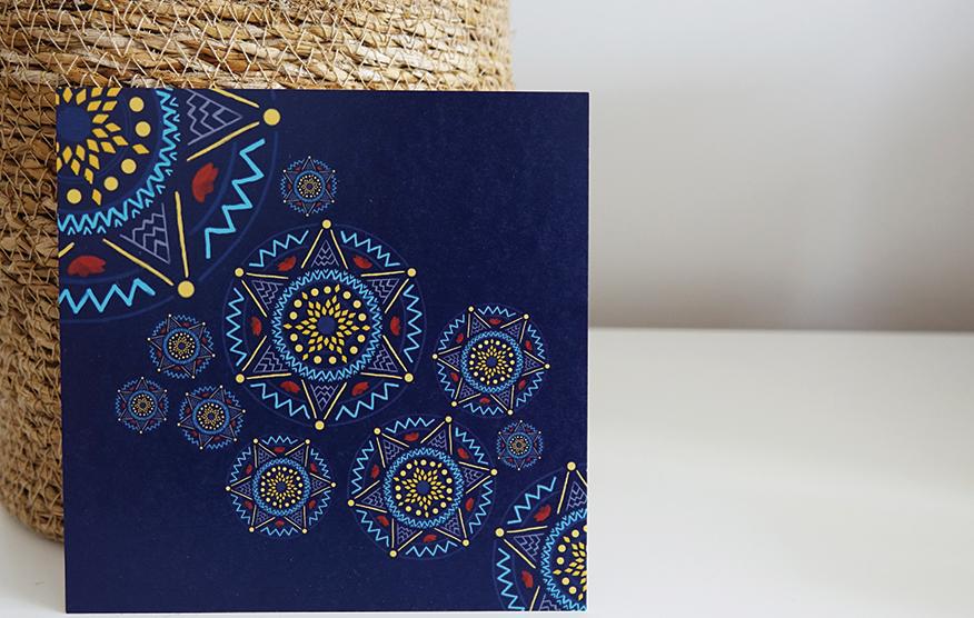 Postkarte, Mandala