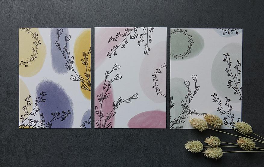 Postkarten, Blumen